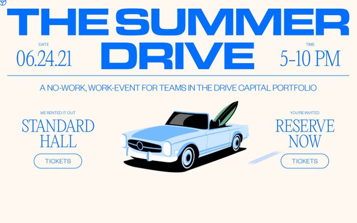 Screenshot of The Summer Drive website
