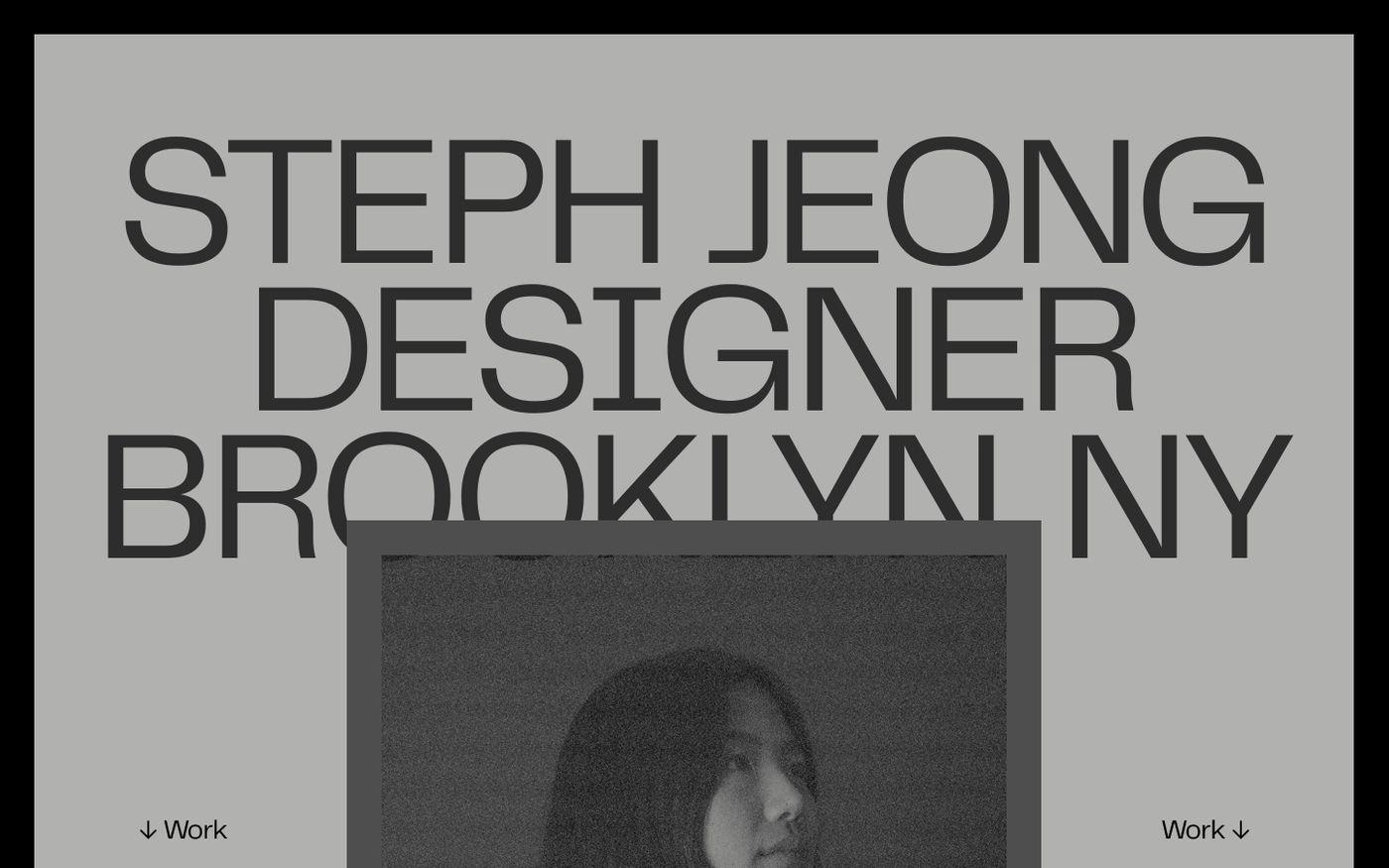Screenshot of Stephanie Jeong website