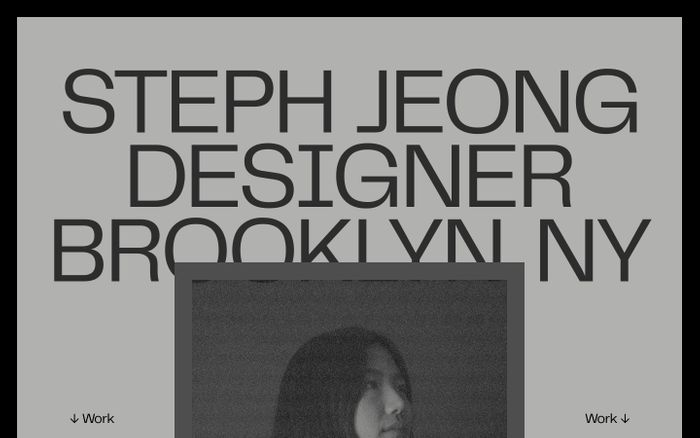 Screenshot of Stephanie Jeong website