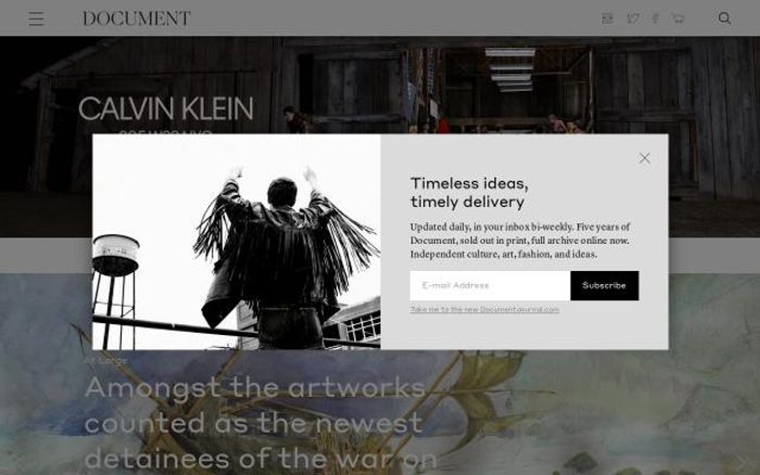 Screenshot of Documentjournal website