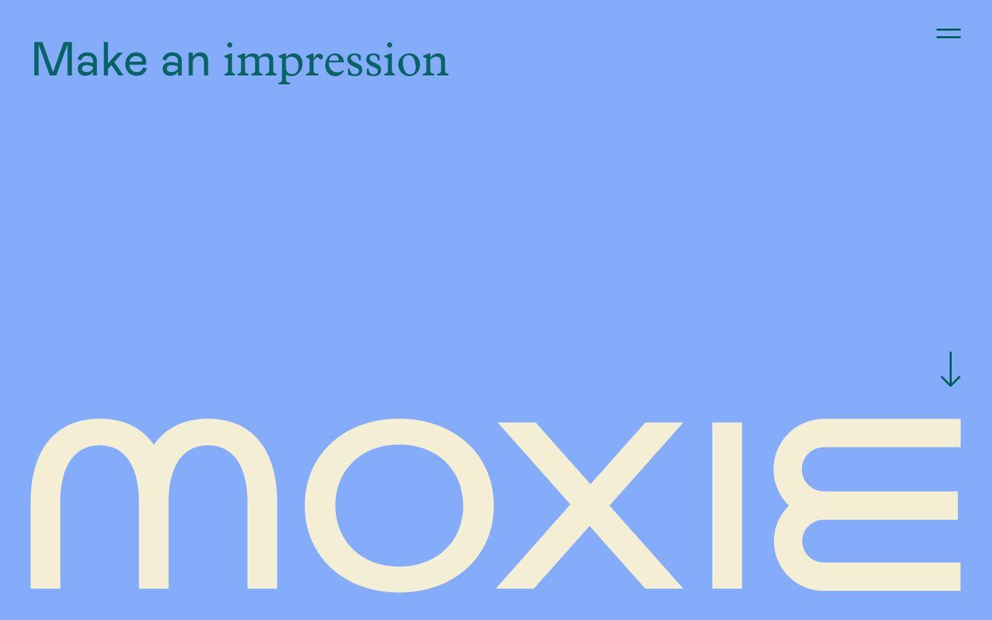 Screenshot of Moxie website