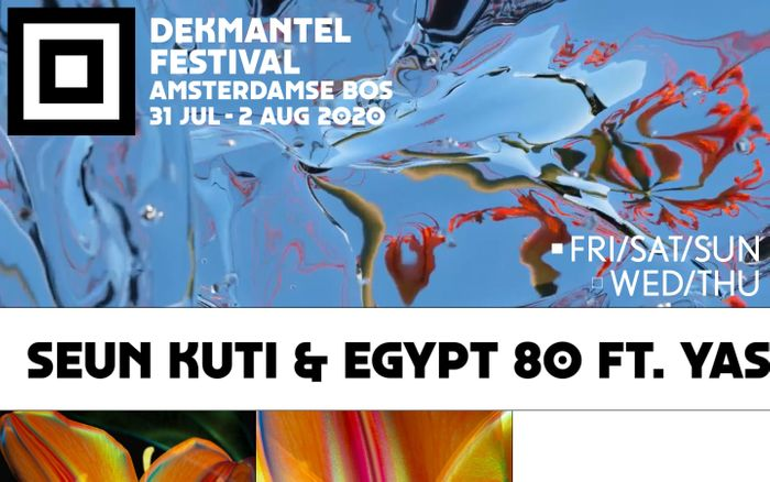 Screenshot of Dekmantel Festival 2020 website