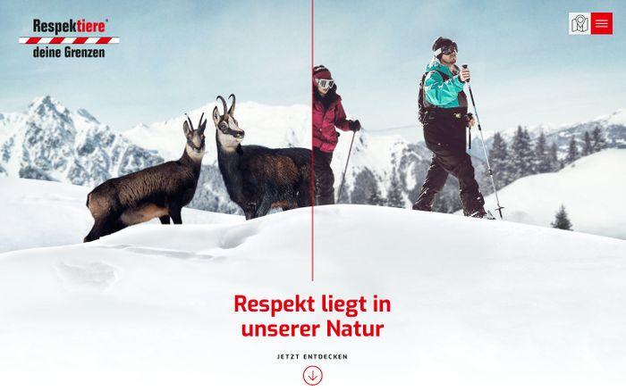 Screenshot of Respektiere deine Grenzen | Naturschutz Vorarlberg