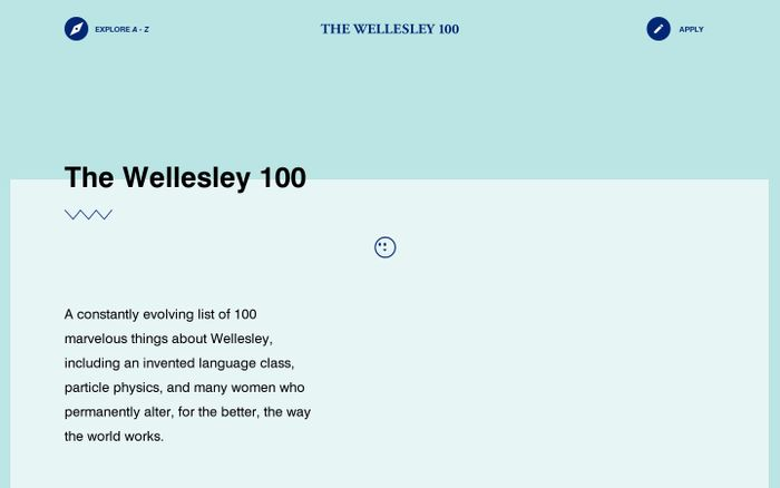 Screenshot of The Wellesley 100