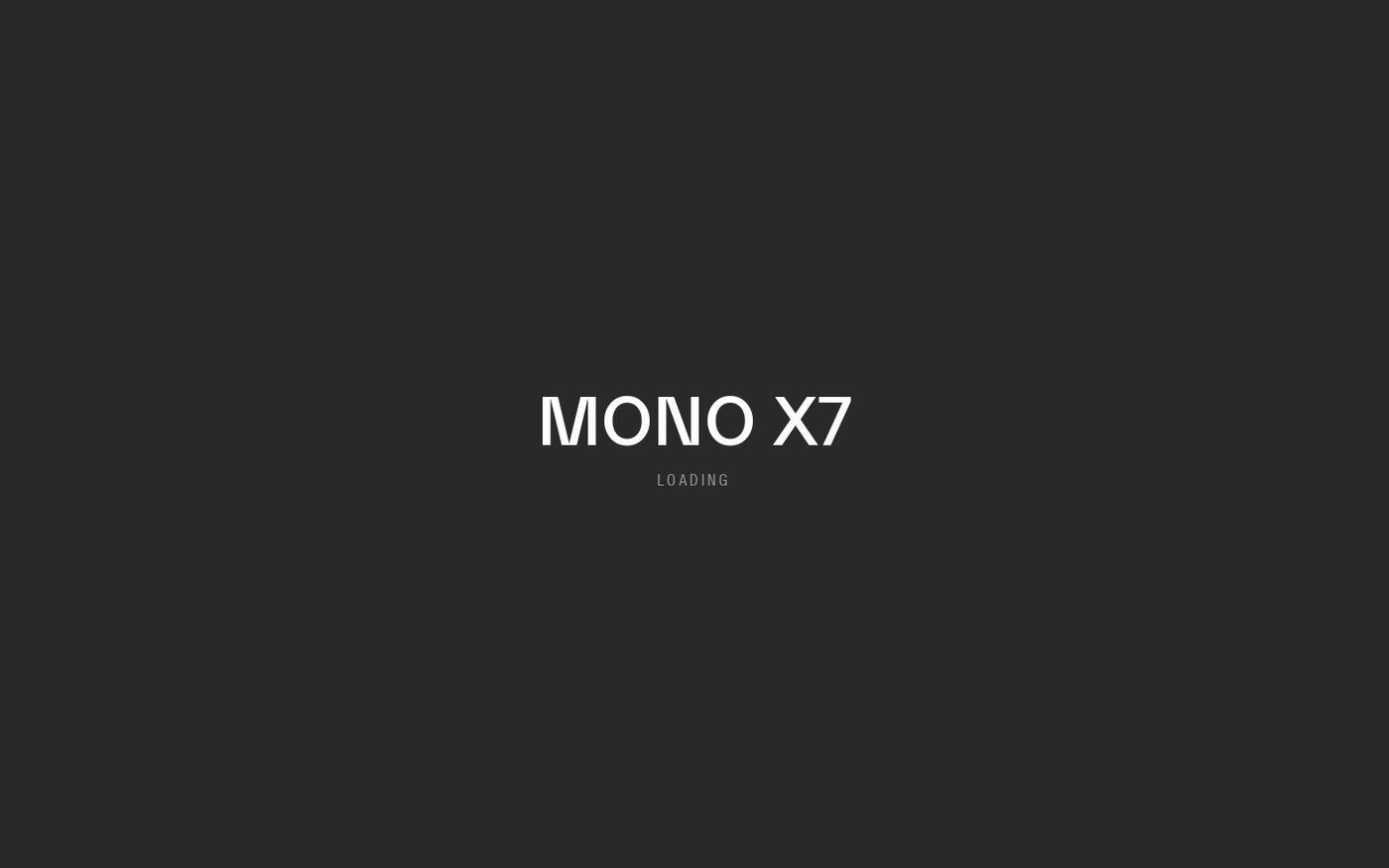 Screenshot of FRAMED* Mono X7 website