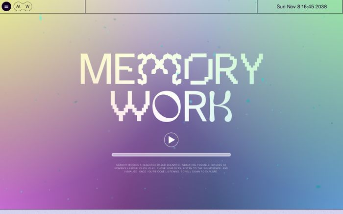 Screenshot of Memory Work | Possible futures of women's labour