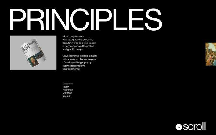 Screenshot of Typography Principles website
