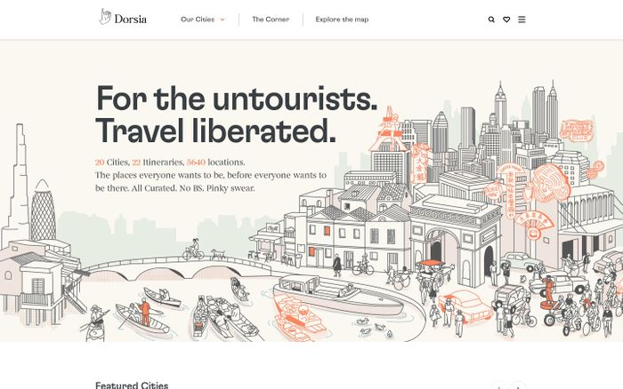 Screenshot of Dorsia website