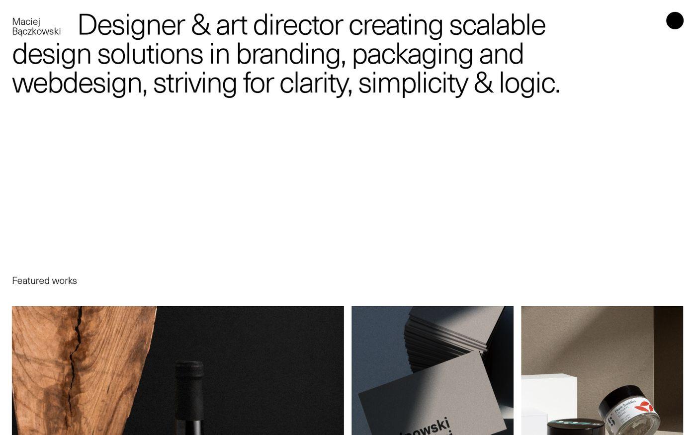 Screenshot of Maciej Bączkowski website