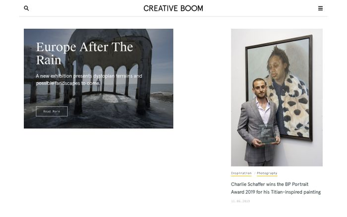 Screenshot of Creative Boom website