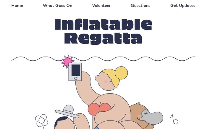 Screenshot of Inflatable Regatta - We float boats on rivers