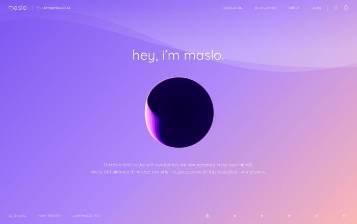 Screenshot of Maslo