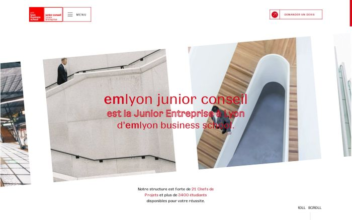 Screenshot of Junior Entreprise Conseil | emlyon junior conseil