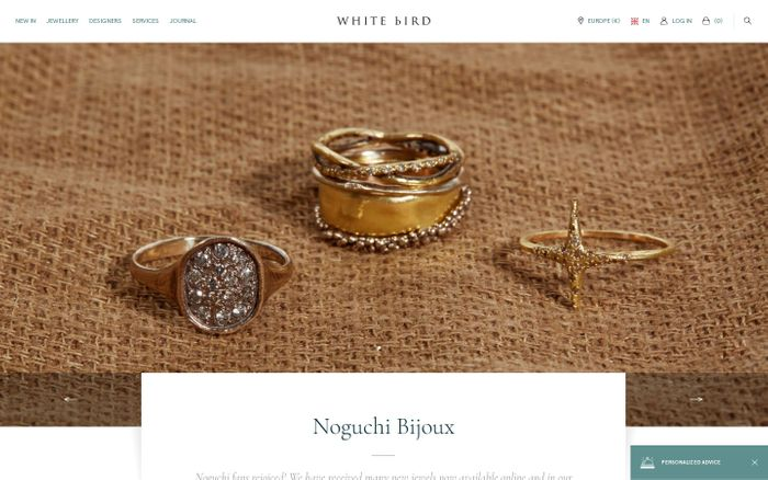 Screenshot of HOMEPAGE | WHITE bIRD
