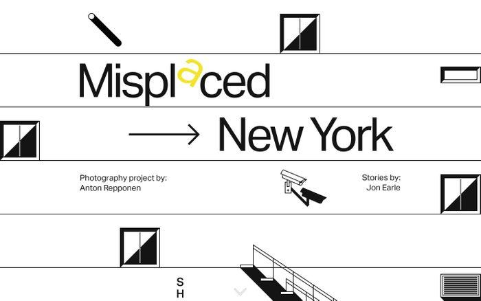 Screenshot of Misplaced → New York