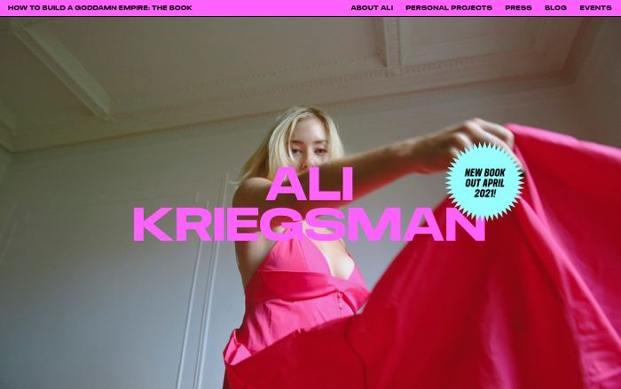 Screenshot of Ali Kriegsman