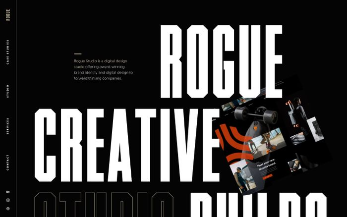 Screenshot of Rogue studio website