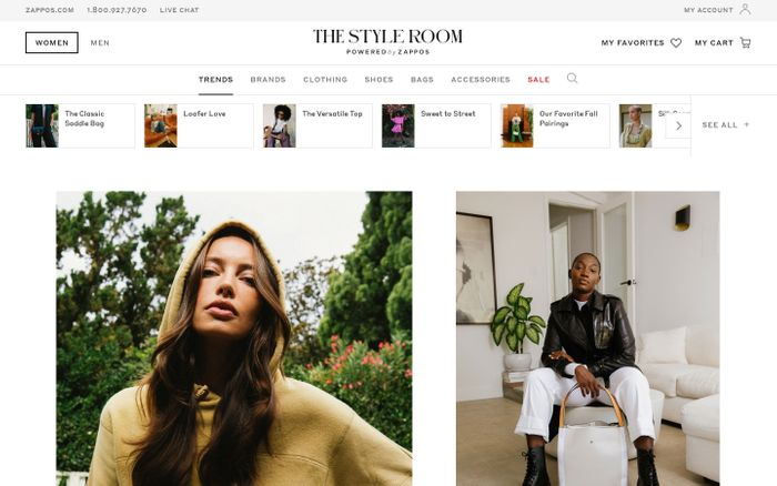 Screenshot of The Style Room website