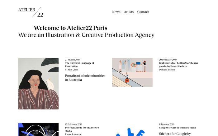 Screenshot of Atelier 22 |Welcome to Atelier22 Paris