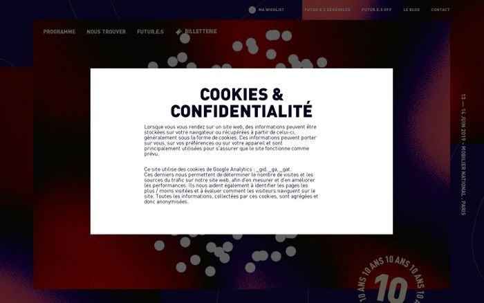 Screenshot of Futur.e.s Festival | 13 & 14 juin Galerie des Gobelins [GRATUIT]