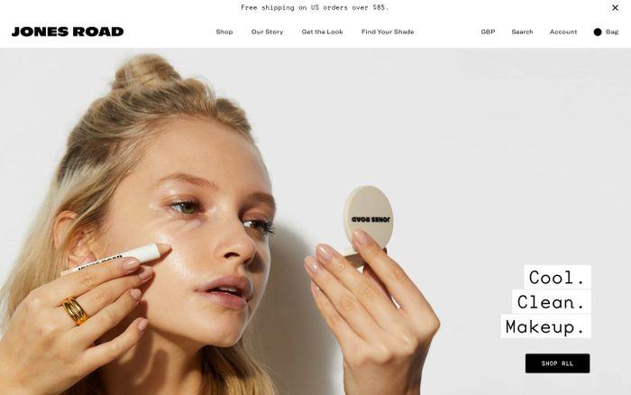 Screenshot of Jones Road Beauty website