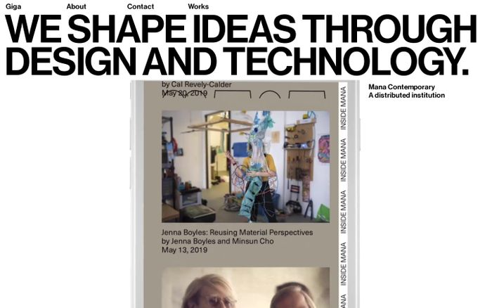Screenshot of We shape ideas through design and technology