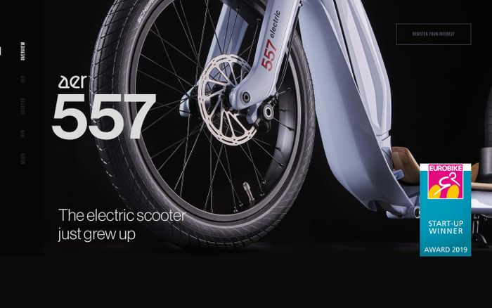 Screenshot of The electric scooter just grew up