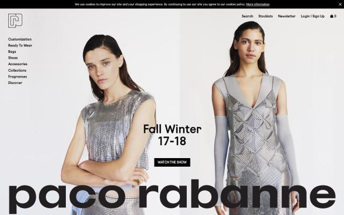 Screenshot of Pacorabanne website