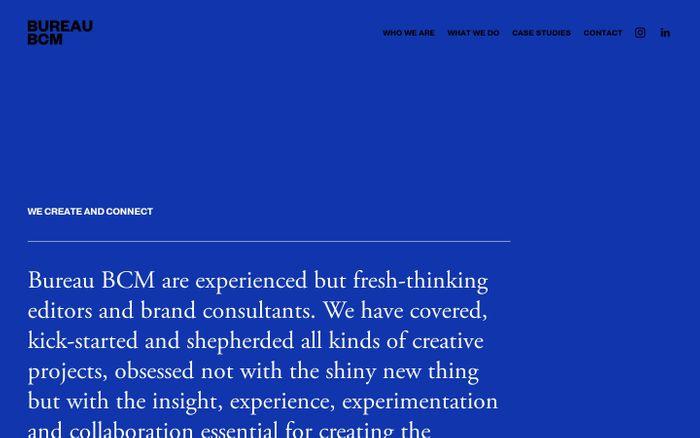 Screenshot of Bureau BCM website