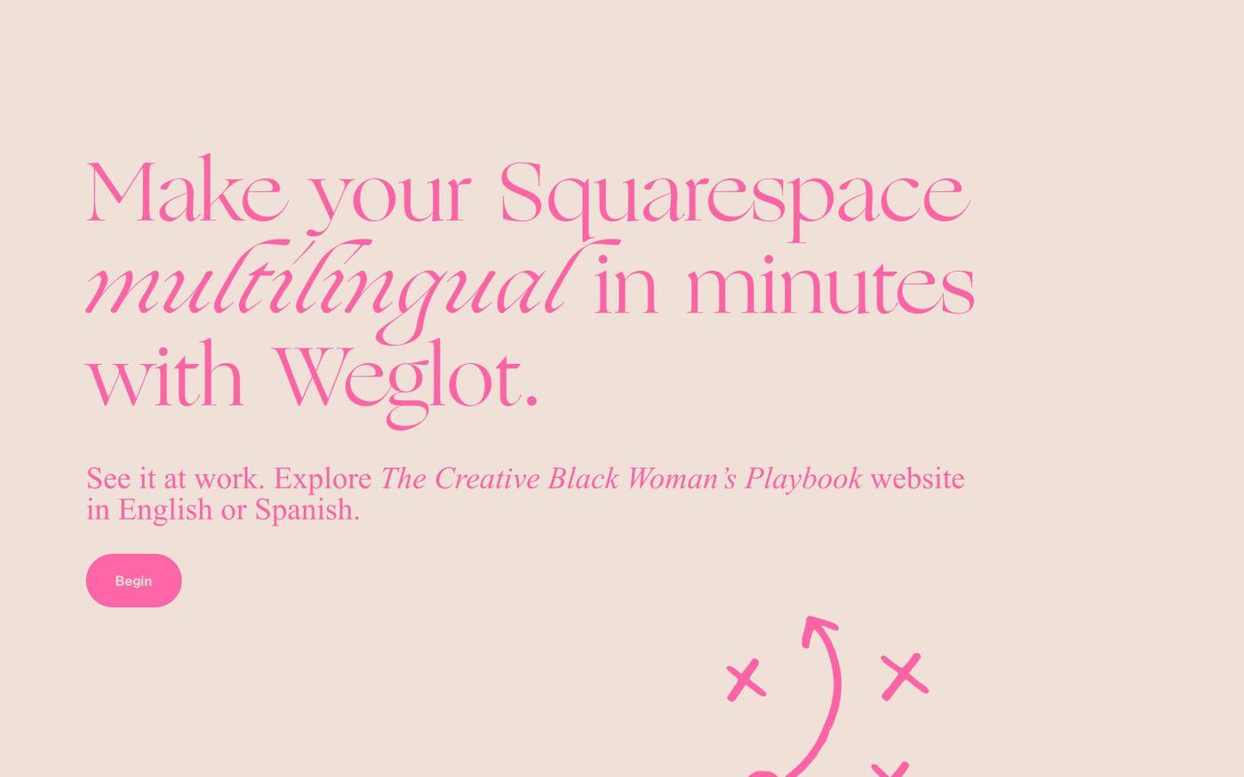 Screenshot of Creative black woman's playbook website
