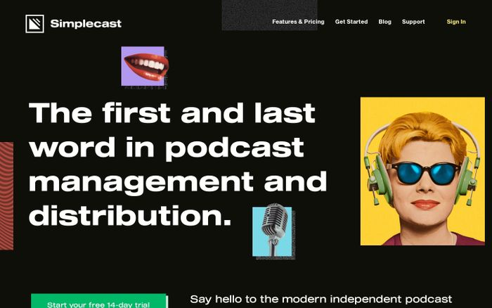 Screenshot of Podcast Hosting, Distribution & Analytics - Simplecast