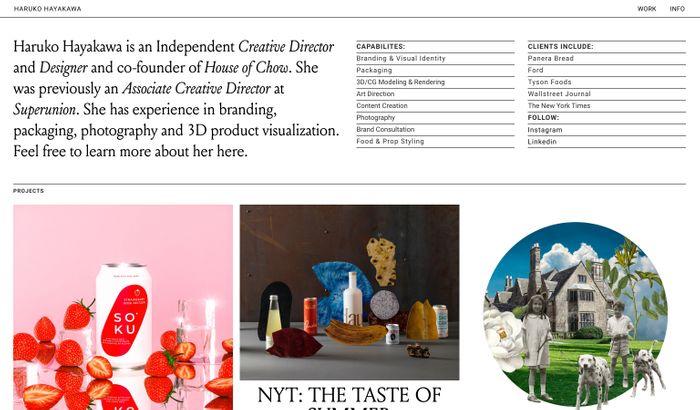 Screenshot of Haruko Hayakawa website