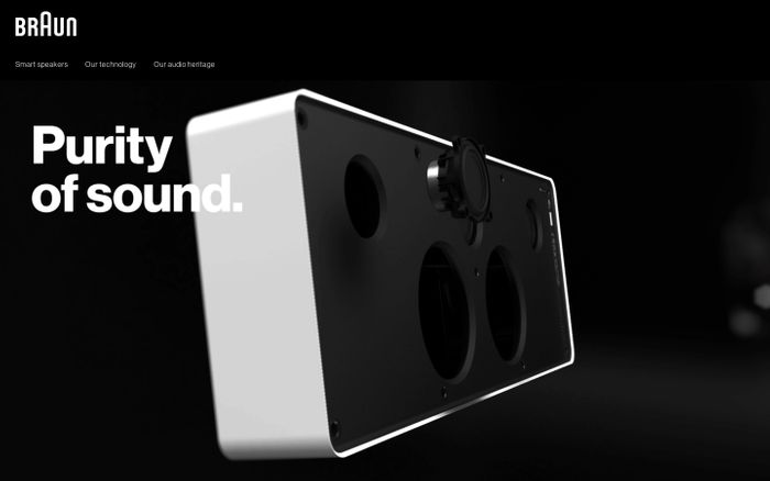 Screenshot of Braun Audio website