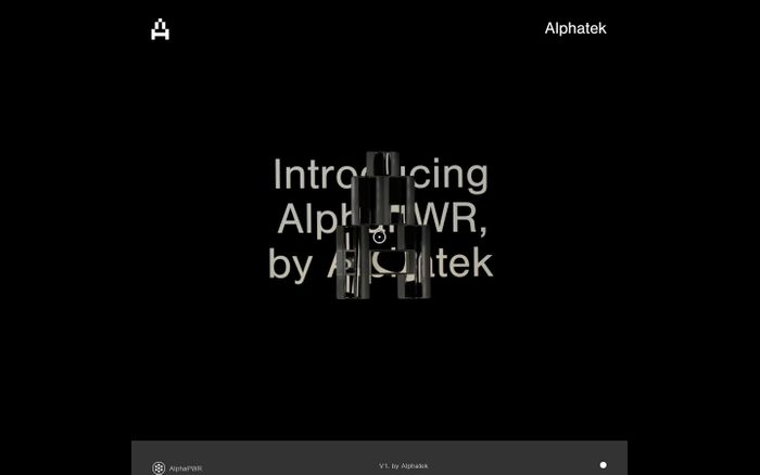 Screenshot of Alphatek website