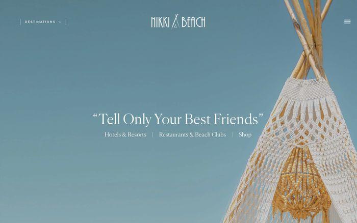 Screenshot of Nikki Beach website