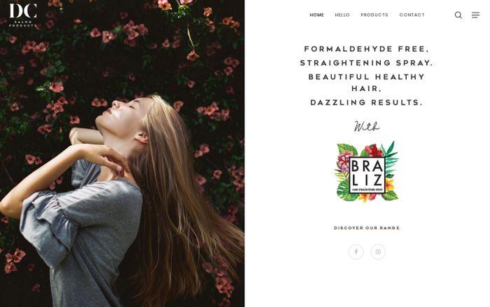 Screenshot of DC Salon Products -The exclusive Braliz UK Distributor