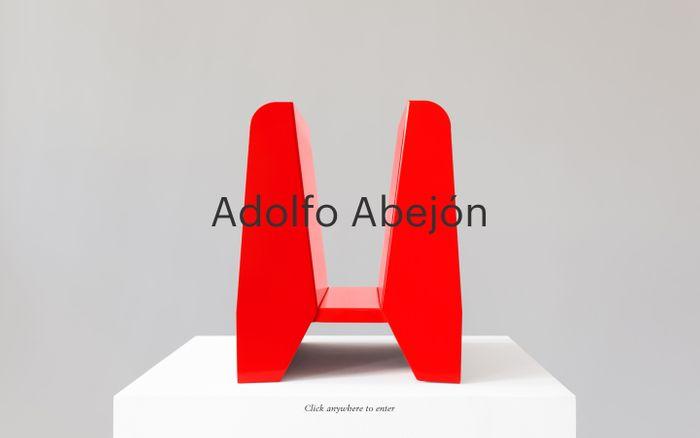 Screenshot of Adolfo Abejón website