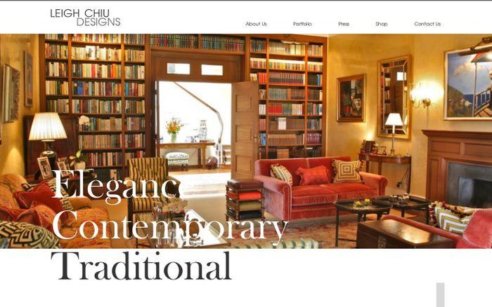 Screenshot of  Leigh Chiu Designs | Interior Designer