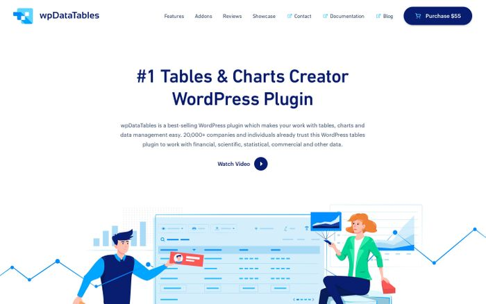 Screenshot of Tables and Charts Creator - WordPress Table Plugin - wpDataTables - Tables and Charts WordPress Plugin