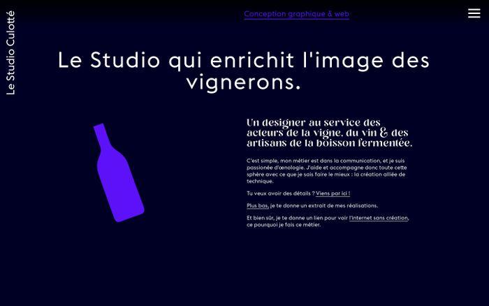 Screenshot of Le Studio Culotté - Communication spécialisée en boissons fermentées