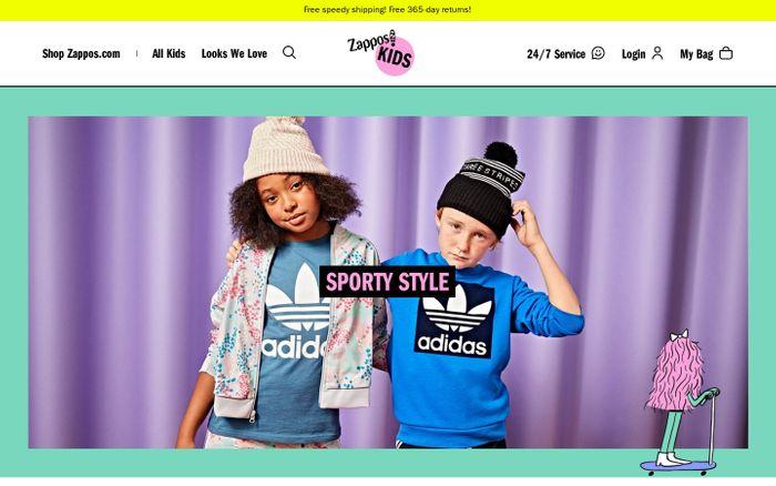 Screenshot of Zappos Kids   Zappos.com