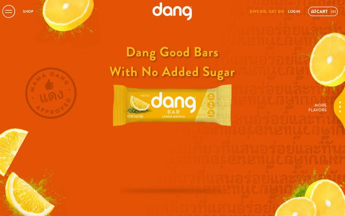 Screenshot of Dang Foods - Dang Bar Keto Snack, Coconut Chips, Sticky-Rice Chips