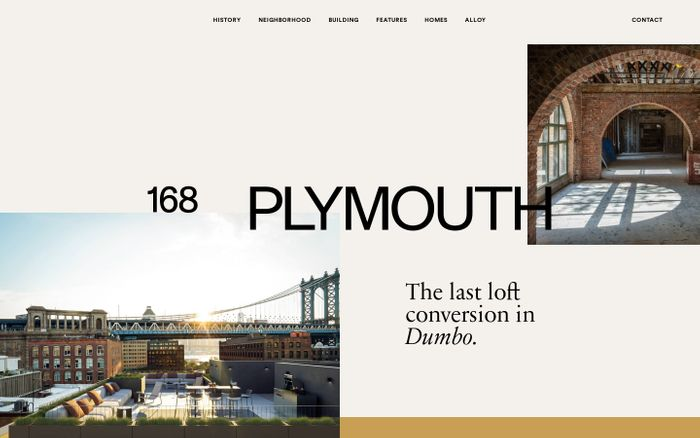 Screenshot of 168 Plymouth website