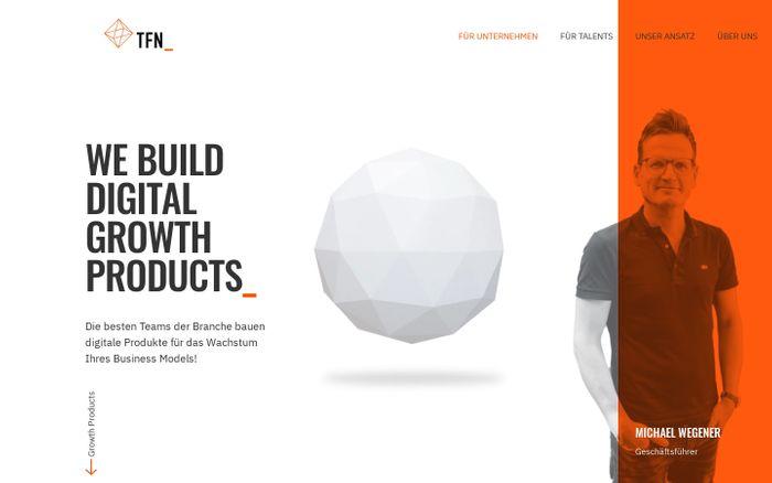 Screenshot of Für Unternehmen | TFN