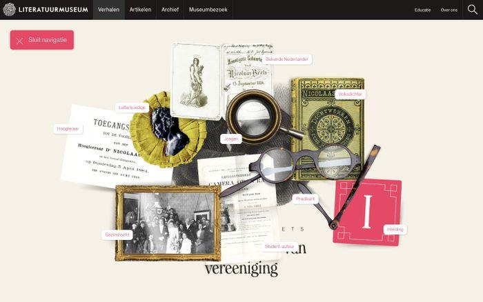 Screenshot of Een Middelpunt van Vereeniging - Nicolaas Beets - Literatuurmuseum - Literatuurmuseum