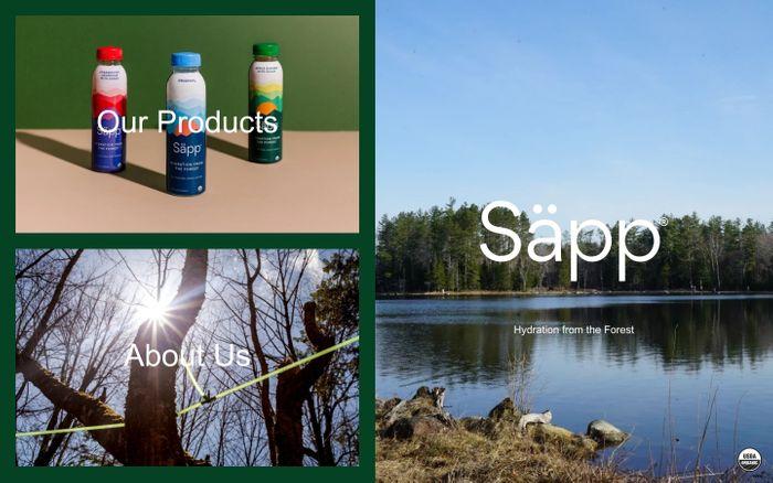 Screenshot of Säpp - Organic Birch Water