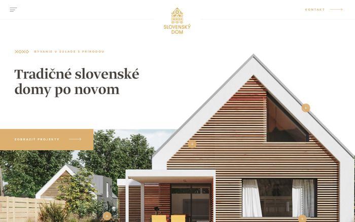 Screenshot of Slovenský Dom - Tradičné slovenské domy po novom