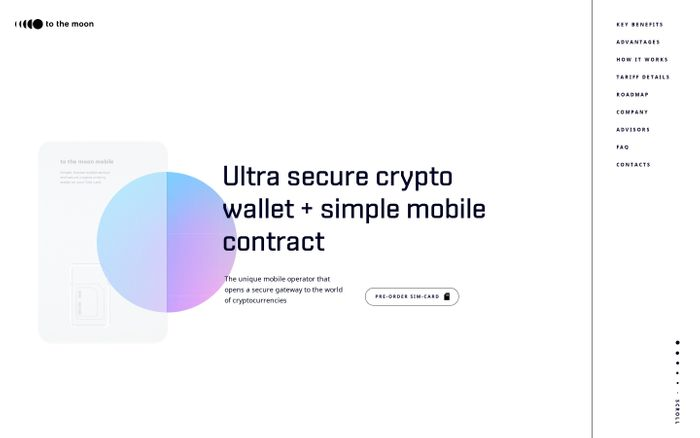 Screenshot of To The Moon Mobile website