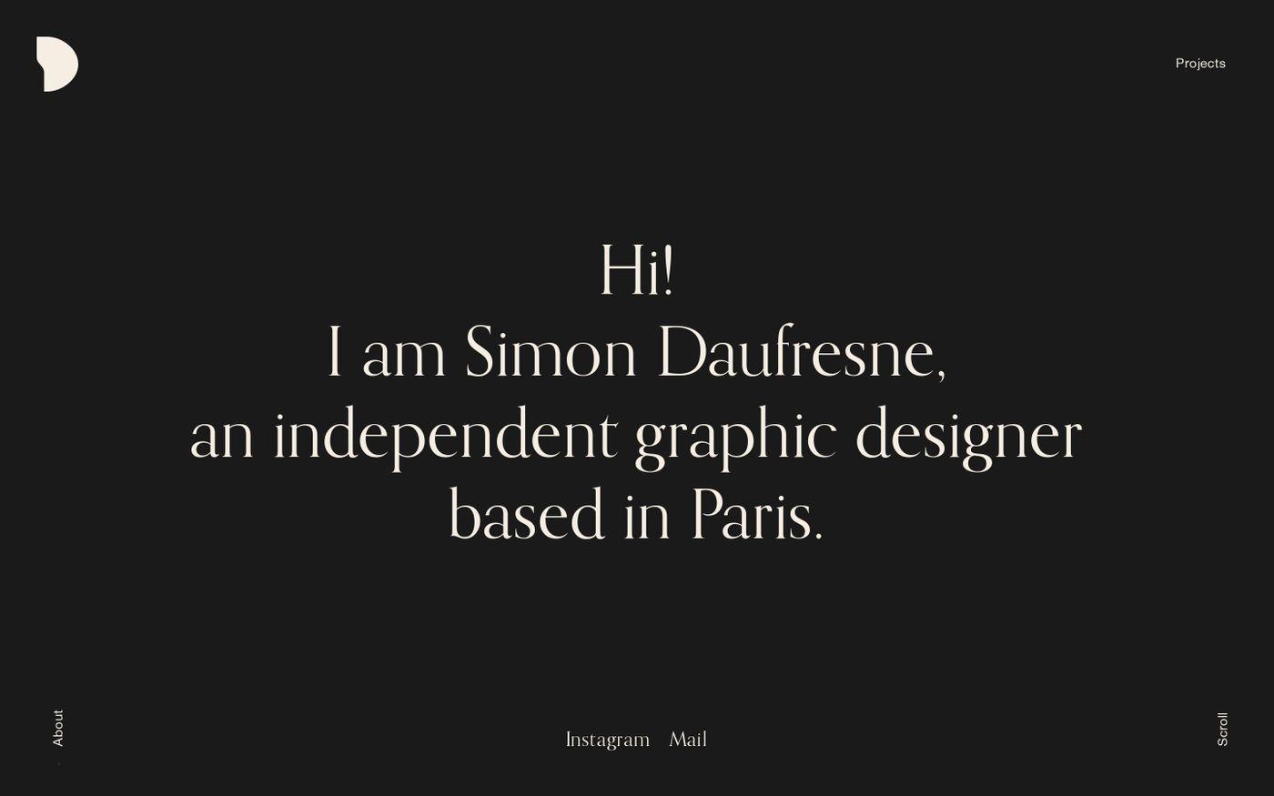Screenshot of Simon Daufresne website