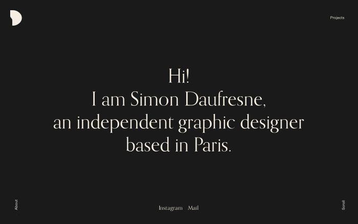 Screenshot of Simon Daufresne